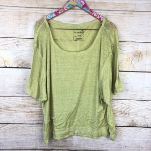 We The Free Tops - We the Free lime green burnout tee size M // A10